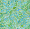 blue green glass tile mosaic