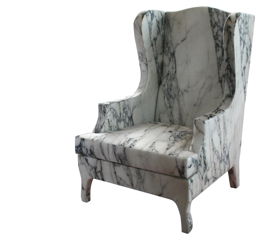 marble armchair
