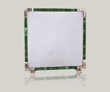 Malachite fire screen