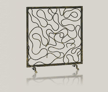 contemporary fire screen