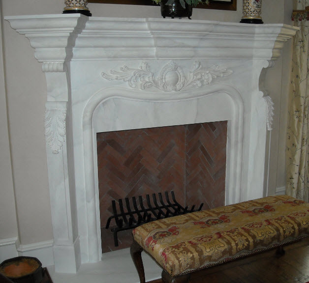 Faux marble mantle courtney price for Faux marble fireplace mantels