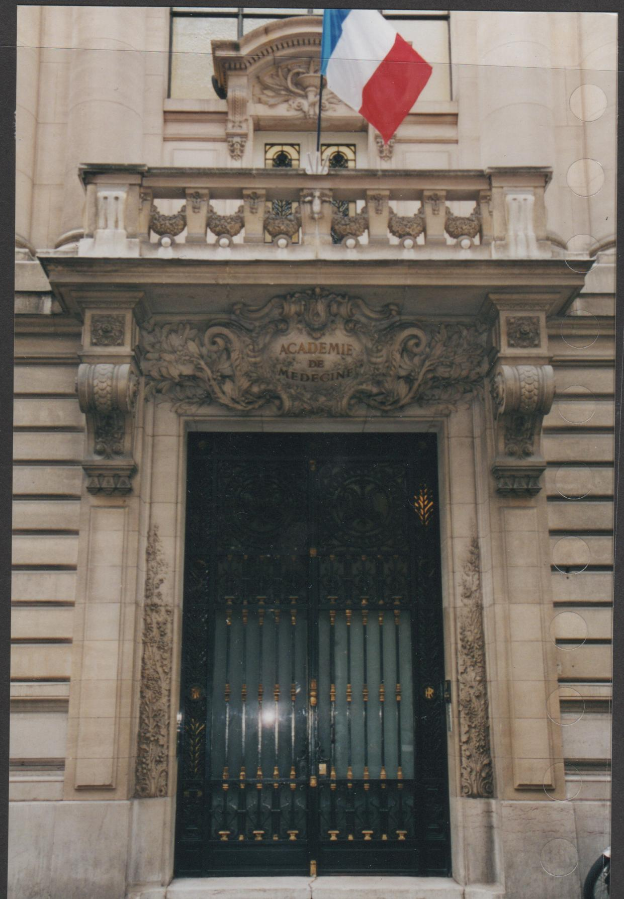 paris door, french flag, balcony over door