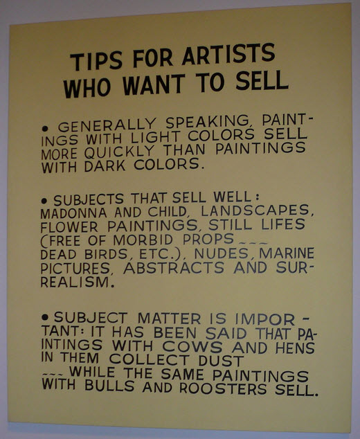 advice for artists