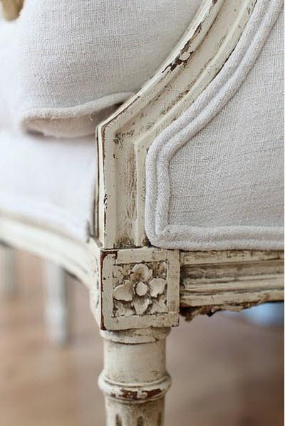 white upholstery detail