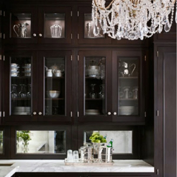 Stained wood butlers pantry